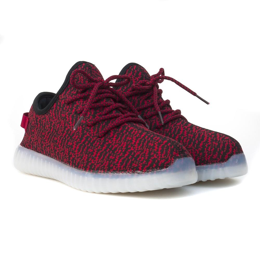 size 40 2ce1b 3258d Wholesale TEEMWAY TWLS07 LED Flashing Sneaker Red Women's EU ...