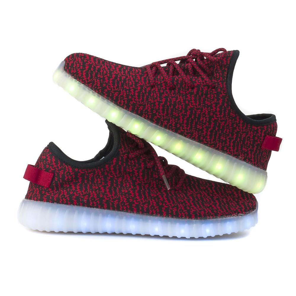 Wholesale TEEMWAY TWLS07 LED Flashing Sneaker Red Women's EU 35-40 12 Pairs