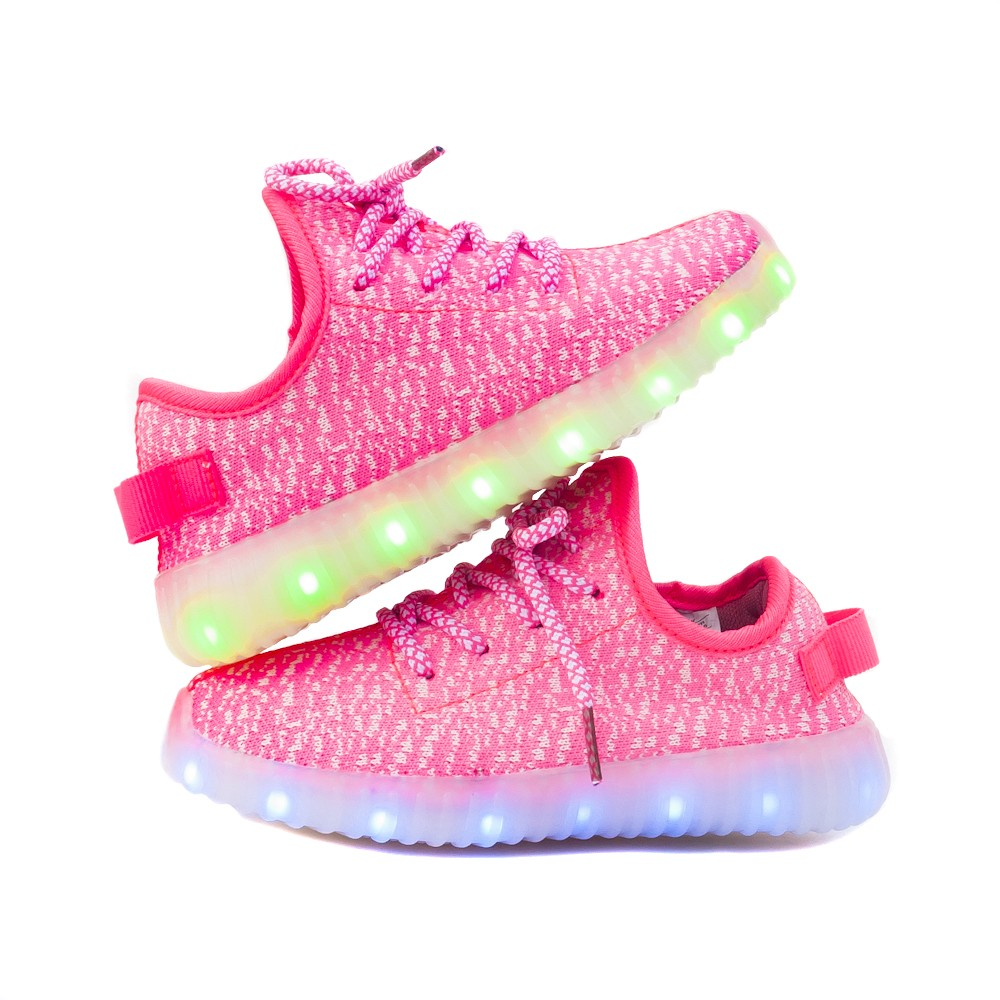 Wholesale TEEMWAY TWLS07 LED Flashing Sneaker Pink Toddle EU 24-27 12 Pairs