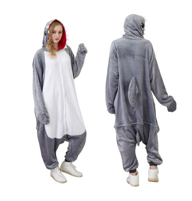 f8d1940f430a 16pcs Animal Onesie Animal Pajamas Halloween Costumes Party wear Carnival  Clothes Adult Shark