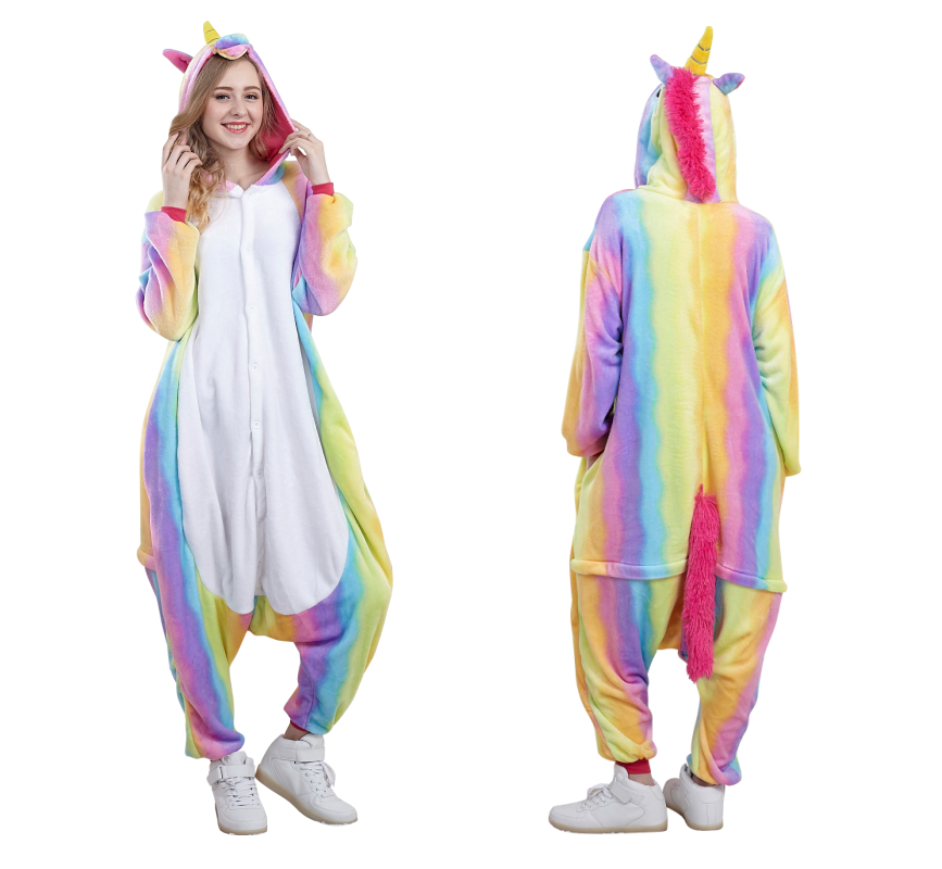 16pcs animal onesie animal pajamas halloween costumes party wear carnival clothes adult rainbow unicorn