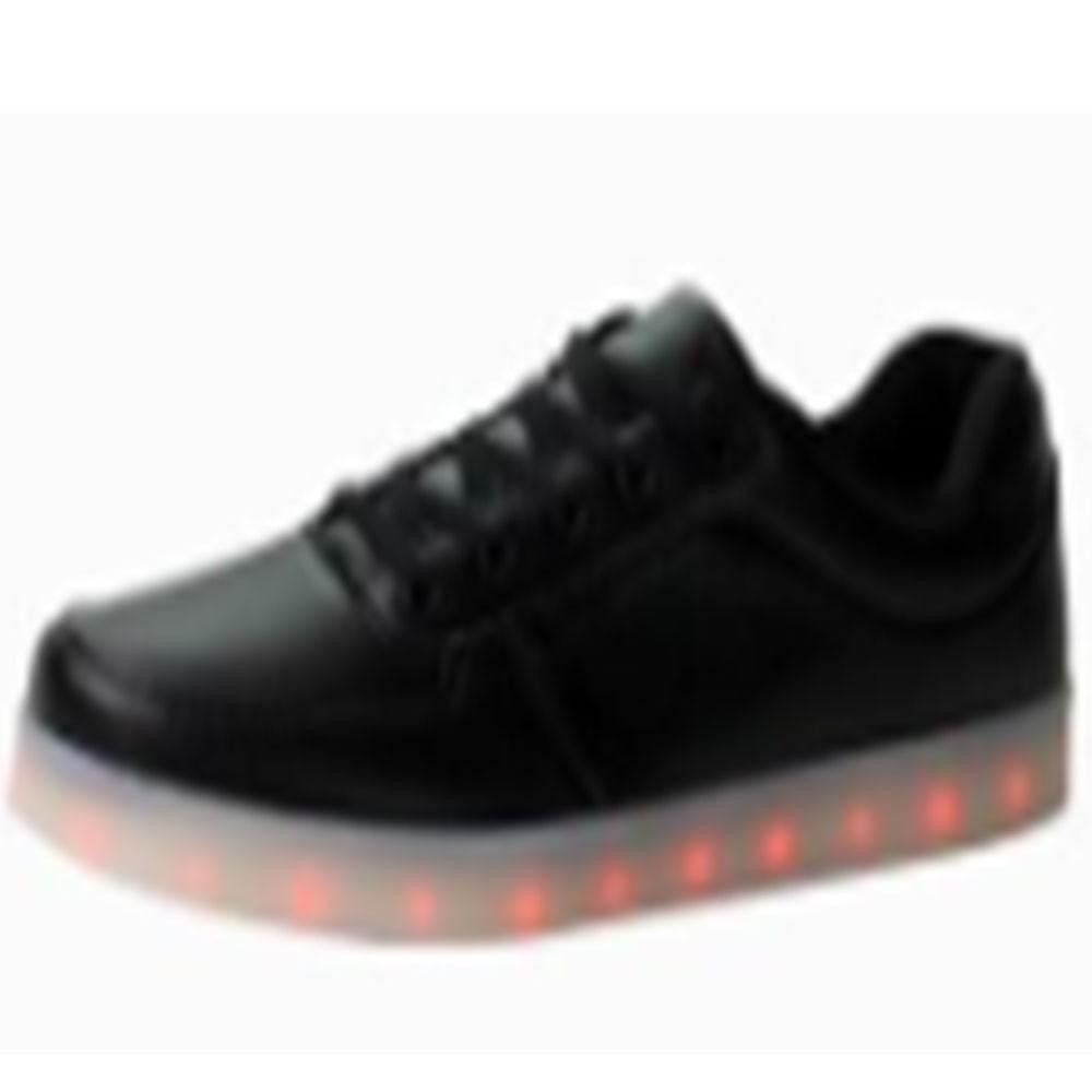 Wholesale TEEMWAY TWLS01 LED Flashing Oxford Unisex or Kids 12pairs/carton-Black-Women's EU 35-40 12 Pairs