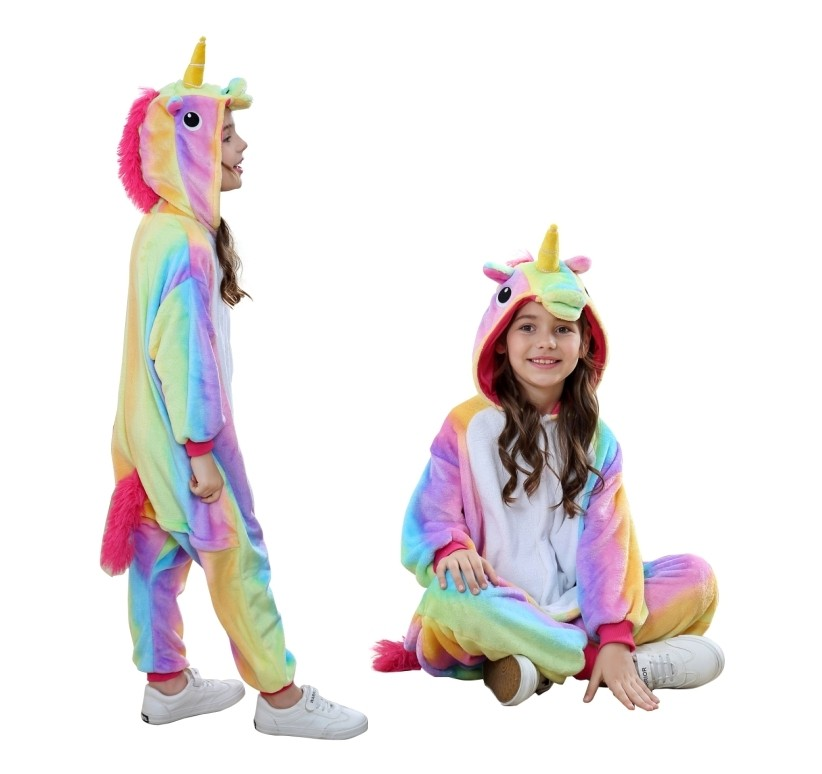 16pcs Animal Onesie Animal Pajamas Kids party wear kids Rainbow Unicorn 2dee1f72fc59