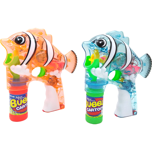 Anton 11JY989-A Fish Bubble Gun with Light & Music 24pc/case