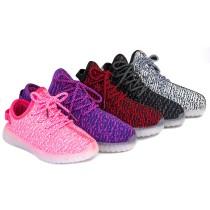 Wholesale TEEMWAY TWLS07 LED Flashing Sneaker Unisex or Kids 12pairs/carton