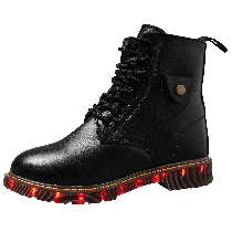 12pairs Wholesale Light Up Boots Genuine Leather Women Boots Christmas Gift Ideas